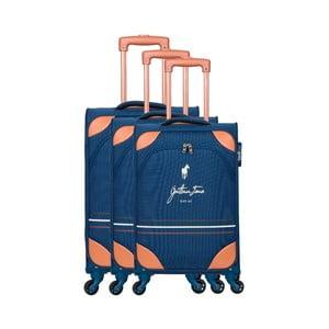 Sada 3 modrých cestovních kufrů na kolečkách GENTLEMAN FARMER Trippy