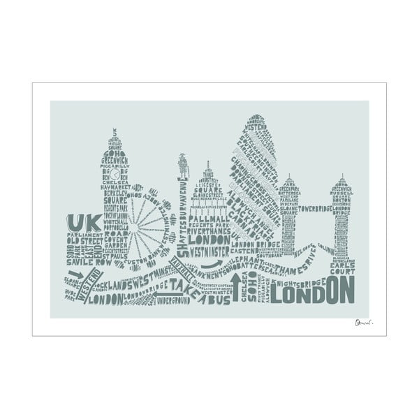 Plakát London Grey&Grey, 50x70 cm