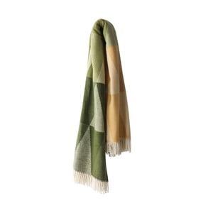 Zelený pléd s podílem bavlny Euromant Pisa, 140x180cm