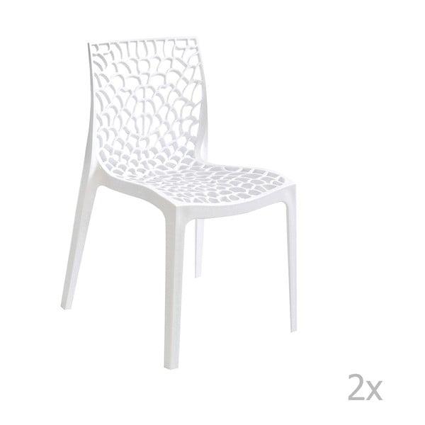 Sada 2 bílých jídelních židlí Evergreen House Lilly
