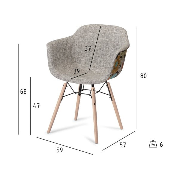 Scaun cu picioare din lemn de fag Furnhouse Flame, bej