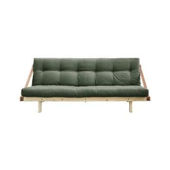 Canapea extensibilă Karup Design Jump Natural/Olive Green verde