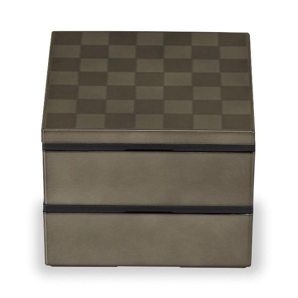 Zeleno-šedý svačinový box Joli Bento Wamoyou,1,2l