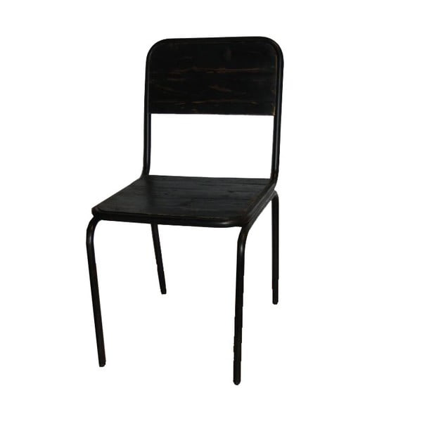Židle Industrielle Noire