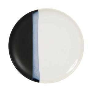 Keramický černobílý talíř Sema Ekume, 27 cm