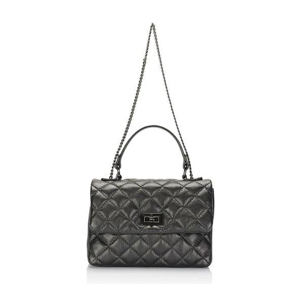 Kožená kabelka Giulia Massari 6991 Black