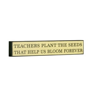 Cedule Teachers plant the seeds, 5x30 cm