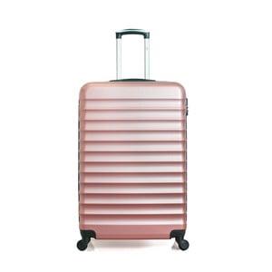 Cestovní kufr ve růžovozlaté barvě na kolečkách Hero Meropi, 60 l