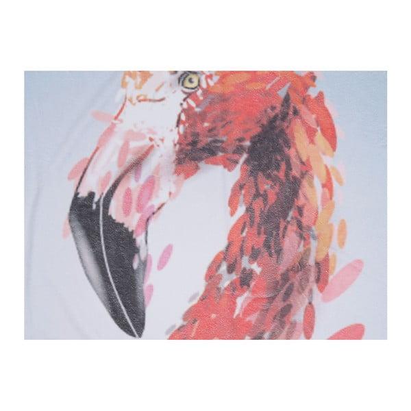 Barevná plážová osuška z bavlny Flamingo, ⌀ 150 cm