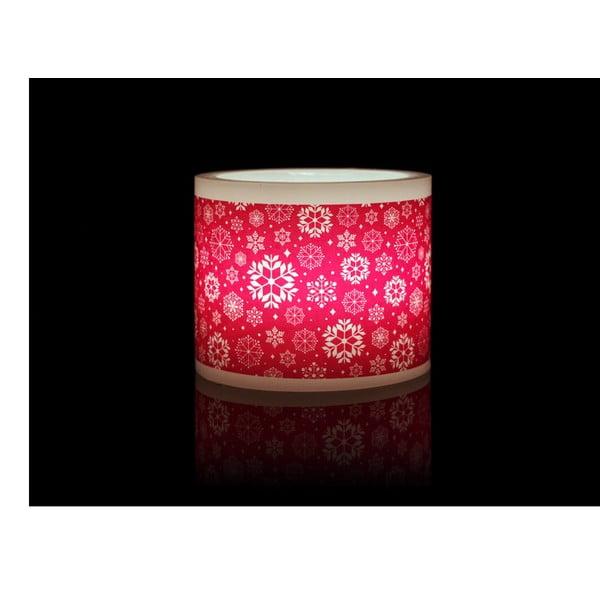Kruhový svícen na čajovou svíčku Red Snowflake