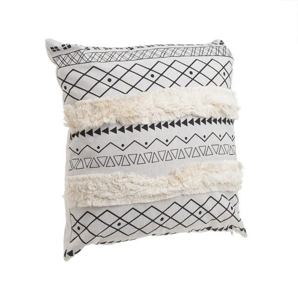 Biało-czarna poduszka InArt Tribe Stripe, 45x45 cm