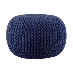 Pletený puf Lob, modrý
