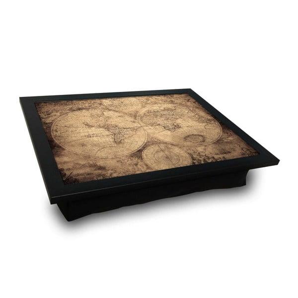 Servírovací tác spolštářem na spodní straně World Map, 36 x 46 cm