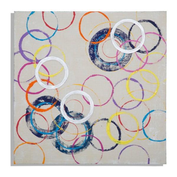 Ručně malovaný obraz Mauro Ferretti Circles, 80x80cm