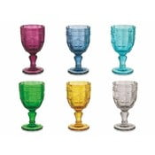 Sada 6 barevných sklenic na víno Villa d'Este Syrah, 235ml