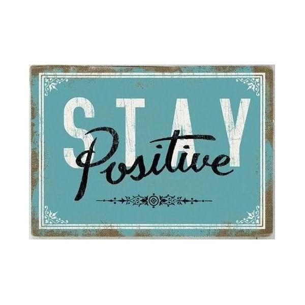 Obraz na plátně Stay Positive, 71x50 cm