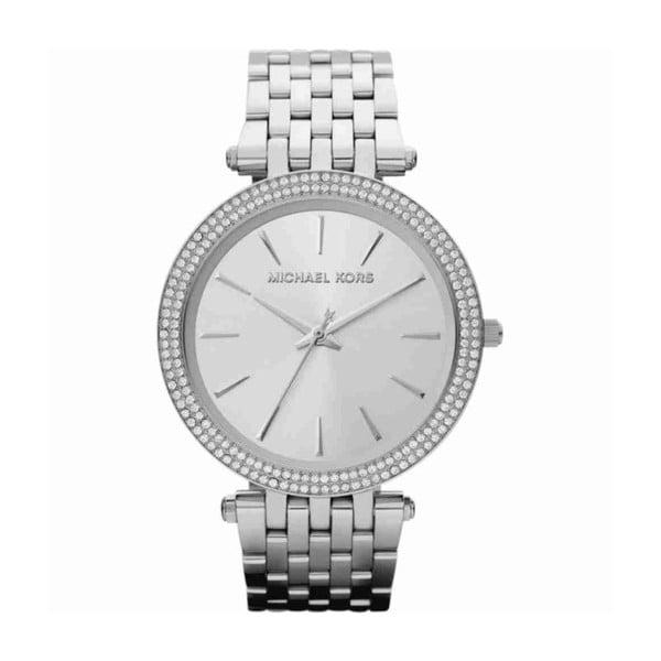 Dámské hodinky stříbrné barvy s kamínky Michael Kors