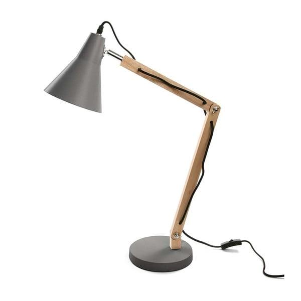 Šedá stolní lampa Versa Work