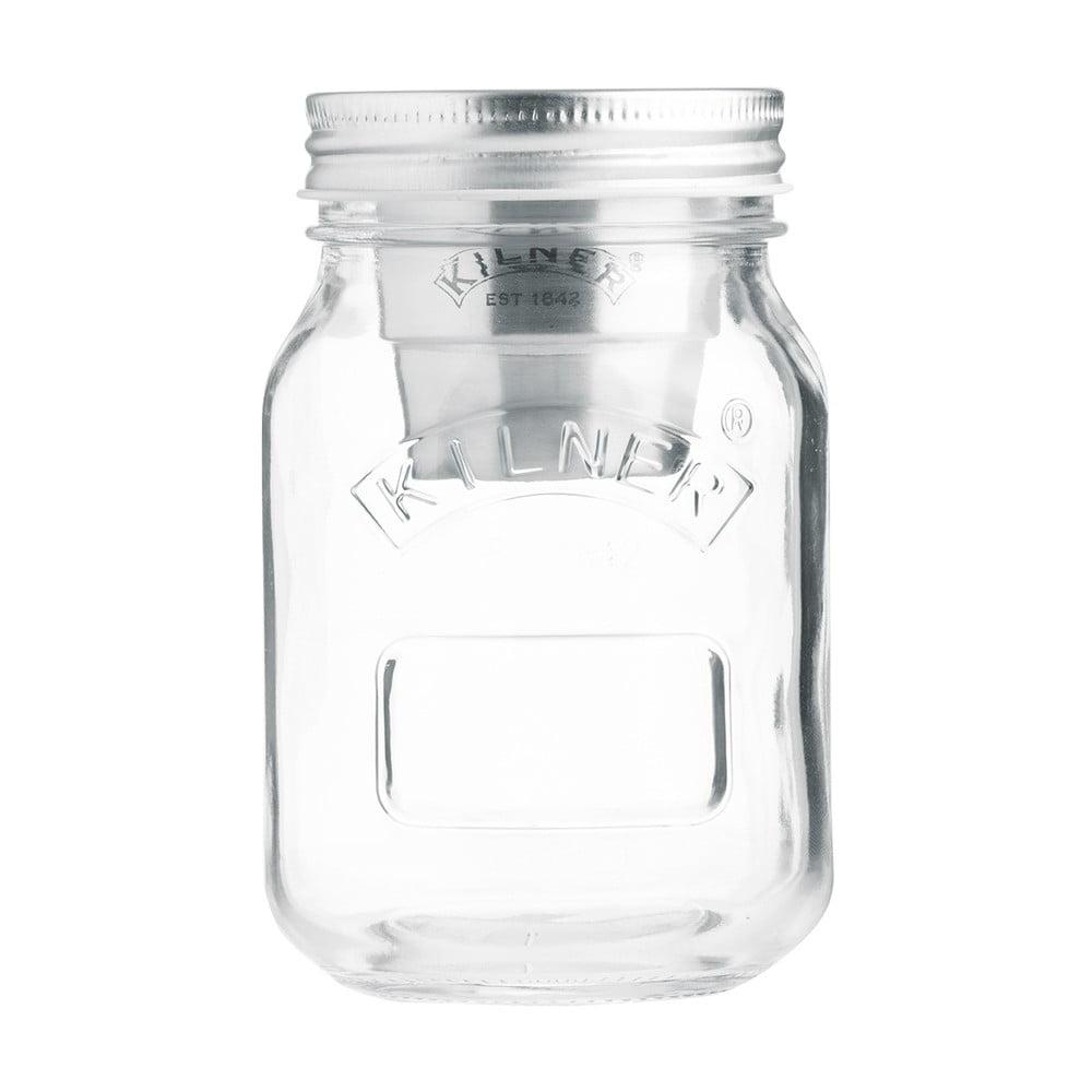Cestovní skleněná sklenice na svačinu s miskou na dresing Kilner, 0,5 l