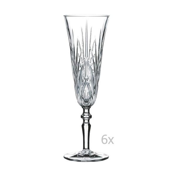 Sada 6 sklenic na šampaňské z křišťálového skla Nachtmann Taper Champagne, 140 ml