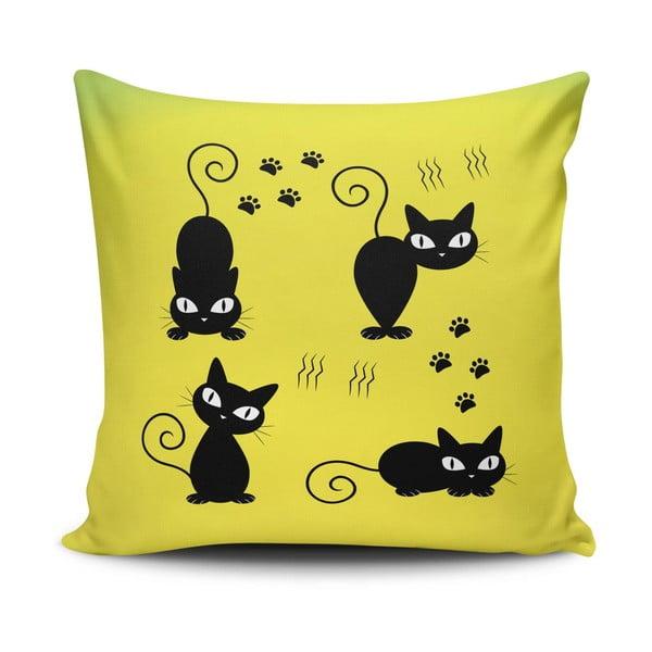 Povlak na polštář s příměsí bavlny Cushion Love Amarillo, 45 x 45 cm