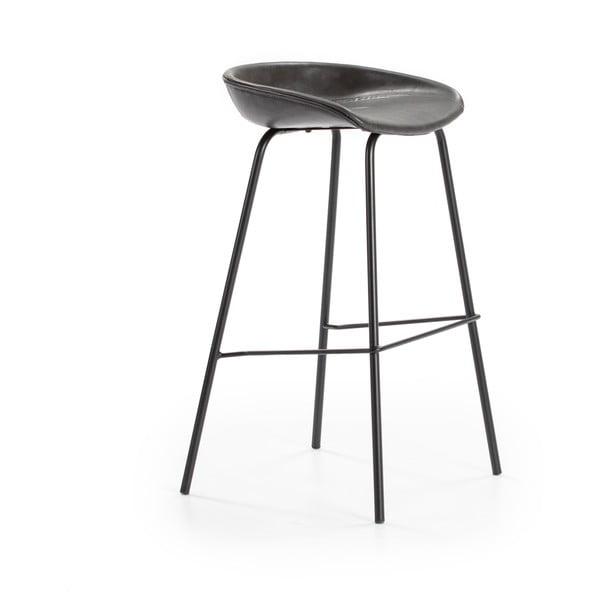 Tmavě šedá barová židle Marckeric Eddie