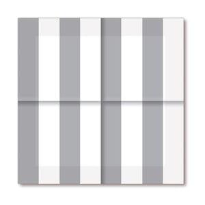 Papírové ubrousky Silver Stripes, 20 ks