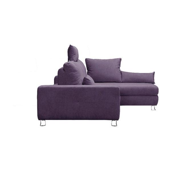 Levadnulově fialová rohová rozkládací pohovka Windsor & Co Sofas, pravý roh Alpha