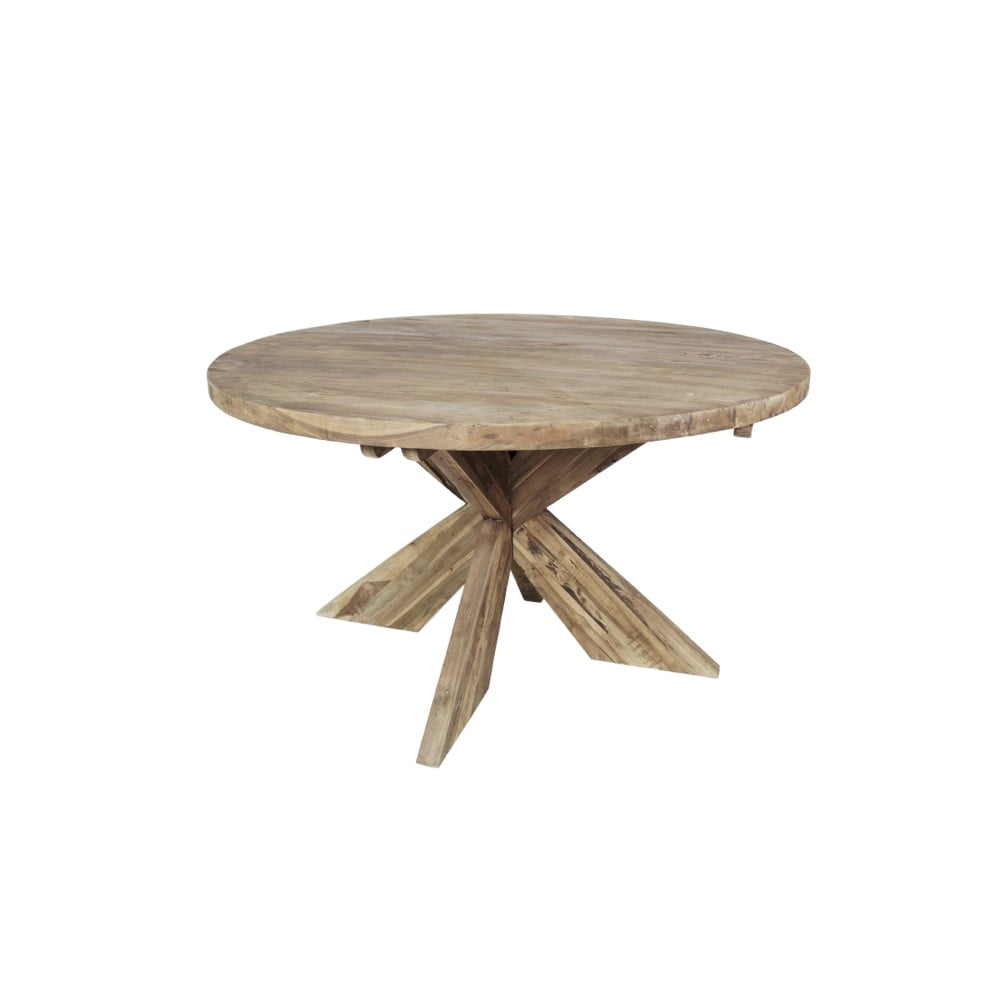 Jídelní stůl z teakového dřeva HSM Collection Tafel, ⌀ 130 cm