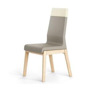 Šedá židle z dubového dřeva Absynth Kyla Two