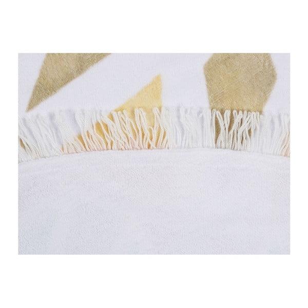Barevná plážová osuška z bavlny Lotus, ⌀ 150 cm