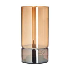 Skleněný LED svícen InArt Amber, výška20cm