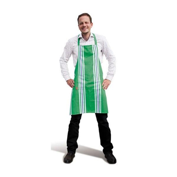 Kuchyňská zástěra, zelená
