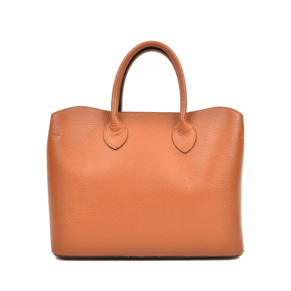 d484707ba3 Koňakově hnědá kožená kabelka Isabella Rhea Shopping Cognac