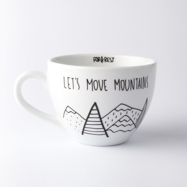 Velký hrnek FOR.REST Design Let´s Move Mountains, 300 ml