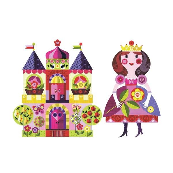 Znovu snímatelná samolepka Princess and Castel