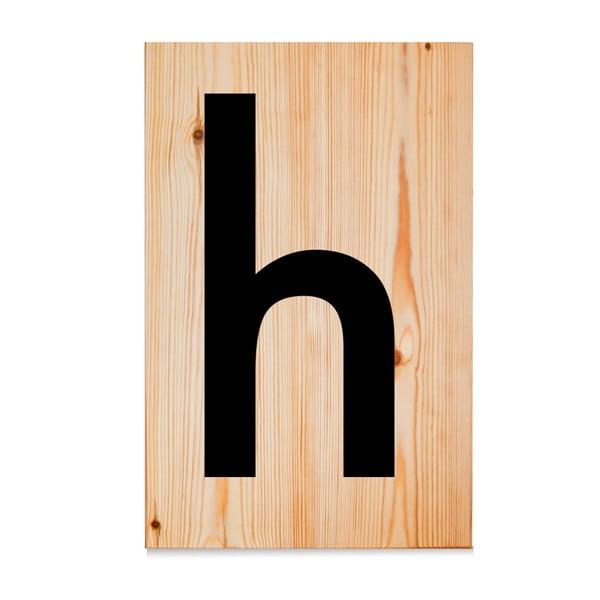 Dřevěná cedule Letters H