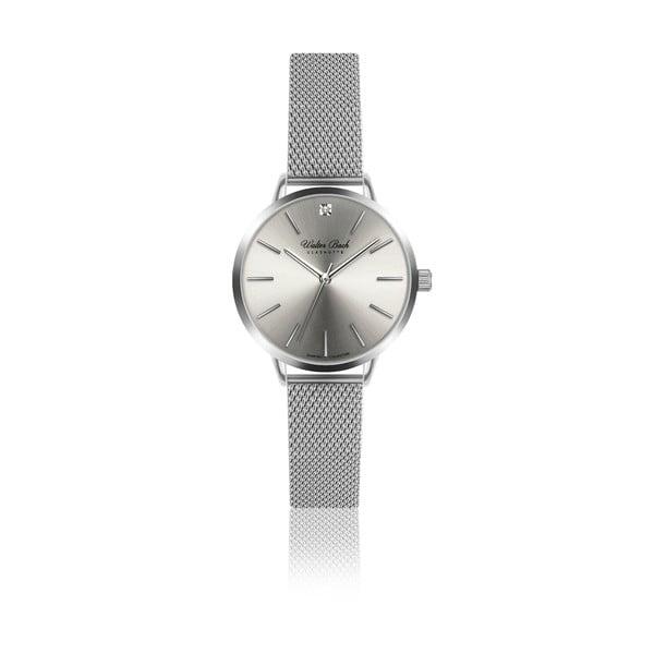 Dámské hodinky s 1 diamantem a páskem z nerezové oceli ve stříbrné barvě Walter Bach Diamond