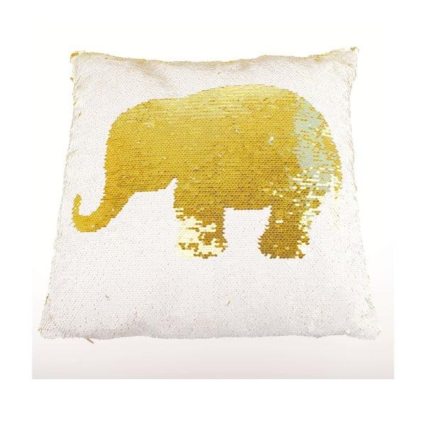 Flitrovaný polštář Dakls Elephant Amarillo, 40 x 40 cm