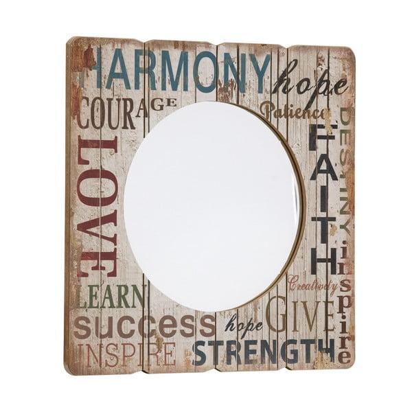 Zrcadlo Harmony, Hope, Faith,  60x60 cm