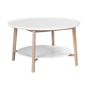 Bílý konferenční stolek s matně lakovanými nohami Folke Pixie, ⌀ 90 cm