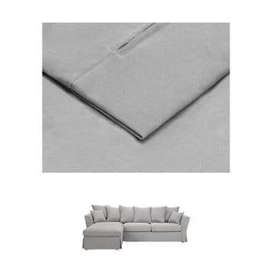 SSvětle šedý povlak na trojmístnou pohovku THE CLASSIC LIVING Helene, levýroh