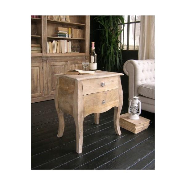 Noční stolek zmangového dřeva Orchidea Milano West Coast Leggy