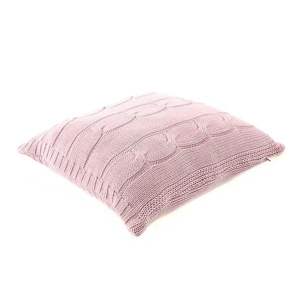 Růžový bavlněný povlak na polštář Buro