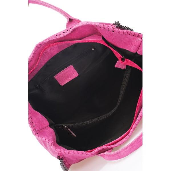 Kožená kabelka Markese 1169 Pink