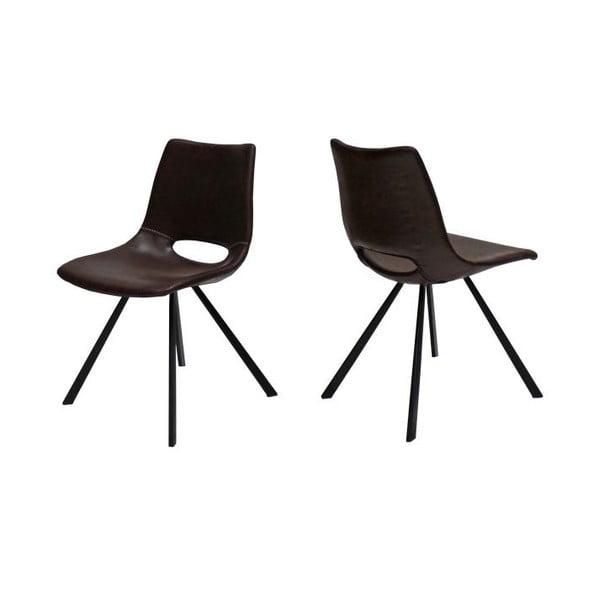 Sada 4 hnědých židlí Canett Coronas