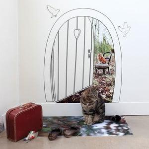 Samolepka na zeď View of a cat, 70x80 cm