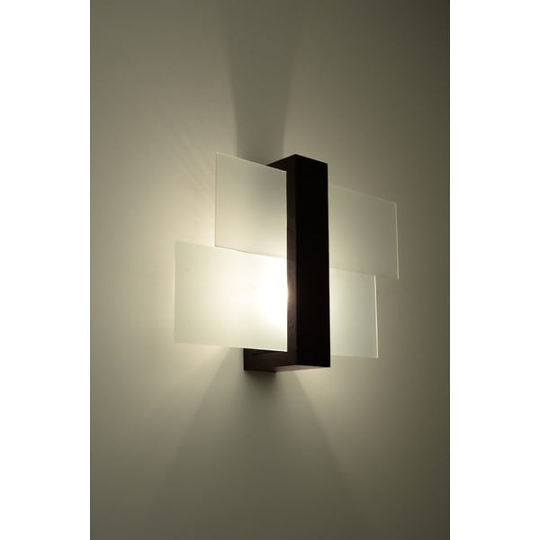 Hnědé nástěnné světlo Nice Lamps Leda