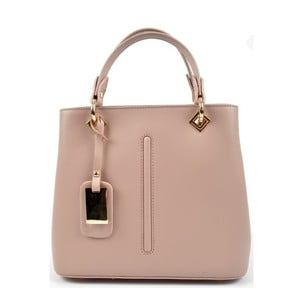 Růžovobéžová kožená kabelka Roberta M Mismono