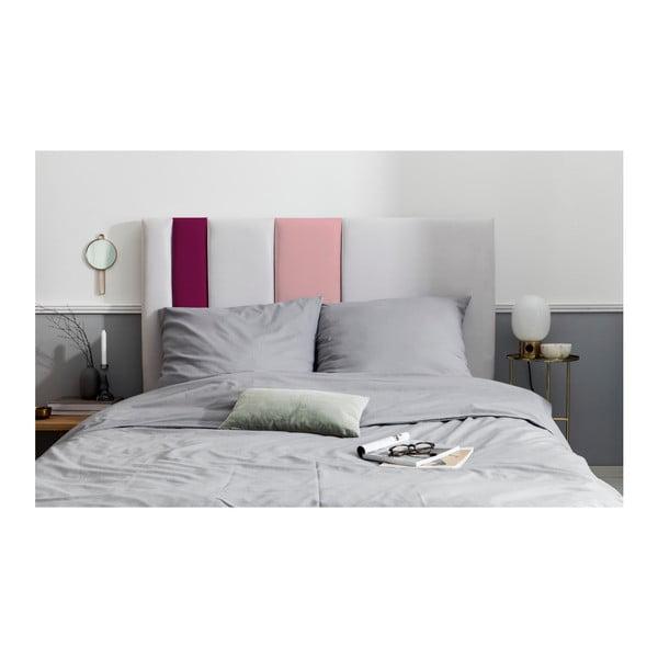 Šedo-růžové čelo postele Mazzini Sofas Dahlia, 120 x 140 cm